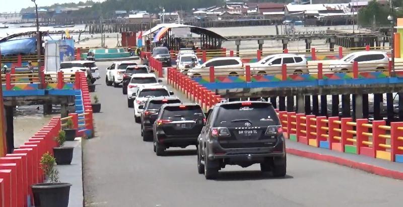 Komunitas Toyota Fortuner Club Jambi Saat Mengadakan Touring ke WFC Kuala Tungkal. (FOTO : JambinetID)