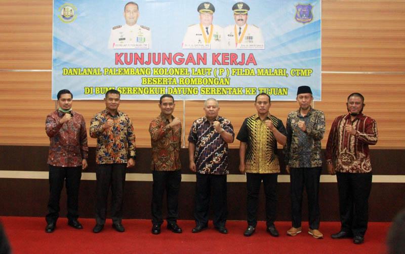 Bupati dan Jajaran FKPD Tanjabbar Sambut Kunken Danlanan Palembang