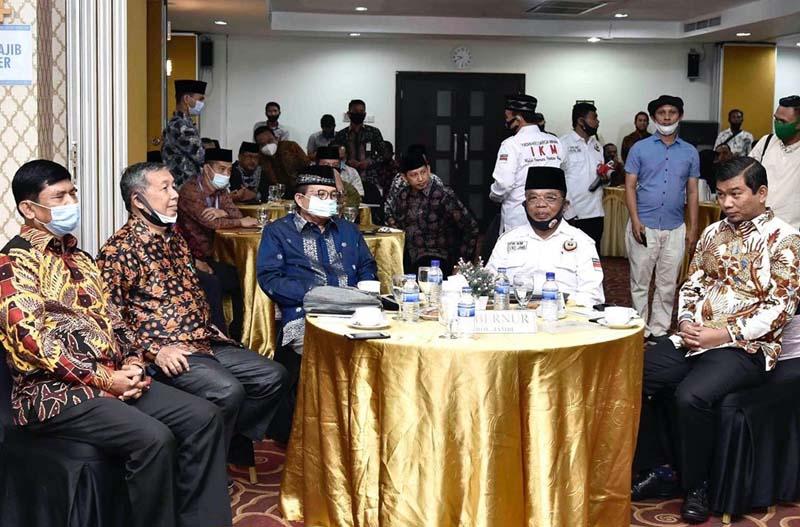 Fachrori saat Membuka Rapat Kerja Wilayah Dewan Pimpinan Wilayah Ikatan Keluarga Minangkabau (Rakerwil DPW IKM) Provinsi Jambi Tahun 2020 di Hotel Shang Ratu. [FOTO : JambiNET/HmsProv]