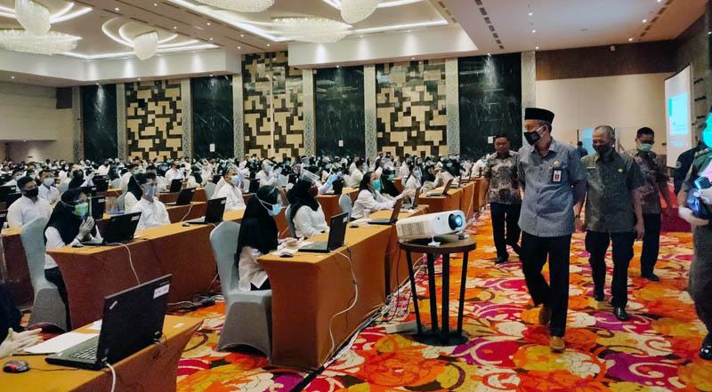 Pelaksanaan Tes SKB CPNS 2019 Kabupaten Tanjab Barat di BW Luxury Hotel Kota Jambi. [FOTO : JambiNET/Hms]