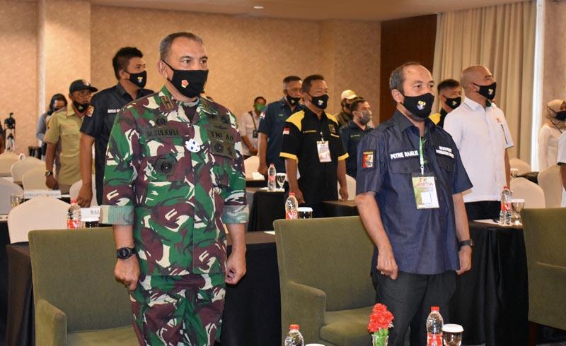 Komandan Korem 042/Gapu, Brigjen TNI M.Zulkifli Saat Membuka Musprov Persatuan Penembak Indonesia (Perbakin) Jambi. [FOTO : JmabiNET/REM042]
