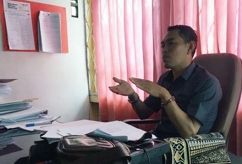 Divisi Sosialisasi, Pendidikan Pemilih, Partisipasi Masyarakat dan SDM, M. Ilyas. [FOTO : JambiNET]