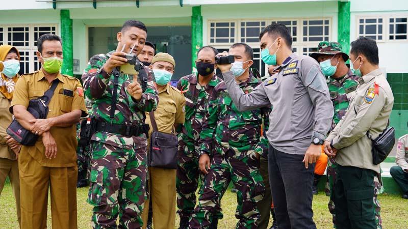 Kasrem 042/Gapu Kolonel Kav Rayen Obersyl Membuka Pelatihan Penanggulangan Bencana di Balai Prajurit Korem 042/Gapu, Jambi. [FOTO : JambiNET/REM042]