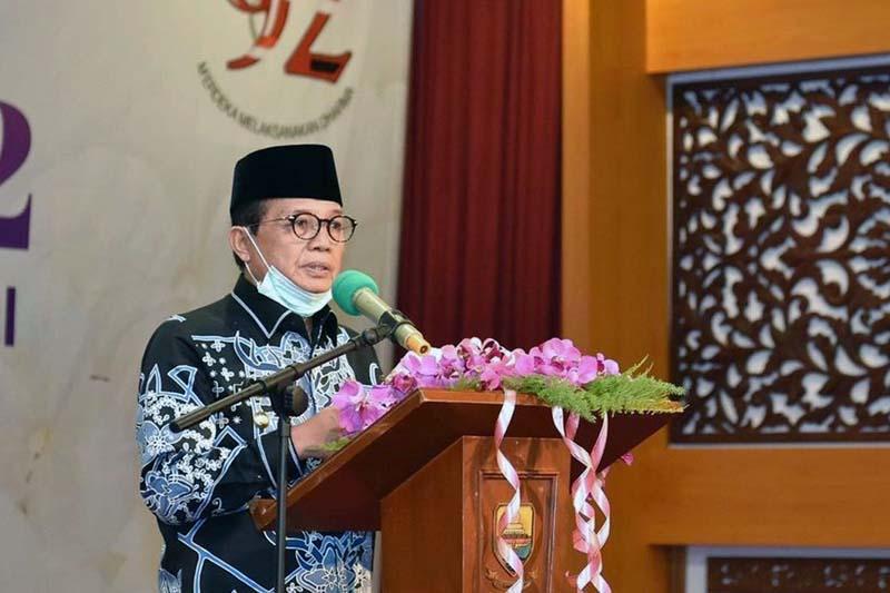 Fachrori pada Peringatan Hari Ibu ke-92 Tahun 2020 Tingkat Provinsi Jambi. [FOTO : JambiNET/IGHMS]