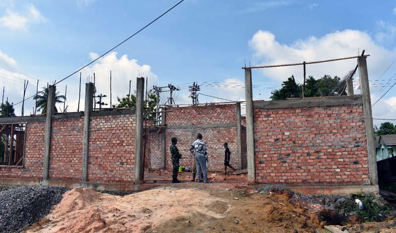 Progres Pembangunan Panti Asuhan Korem Gapu Minggu. [FOTO : JambiNET/REM942]